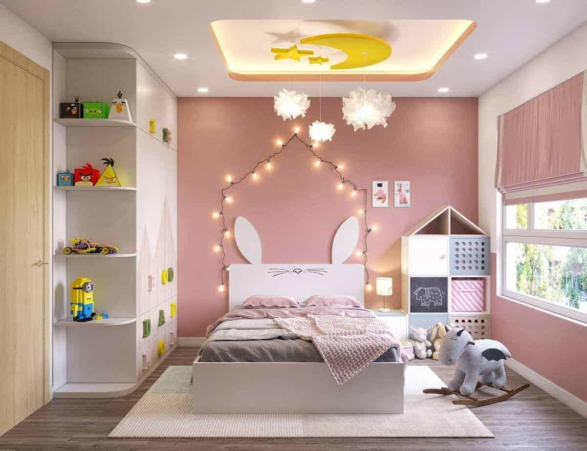 Phòng ngủ cho bé gái dịu dàng, dễ thương