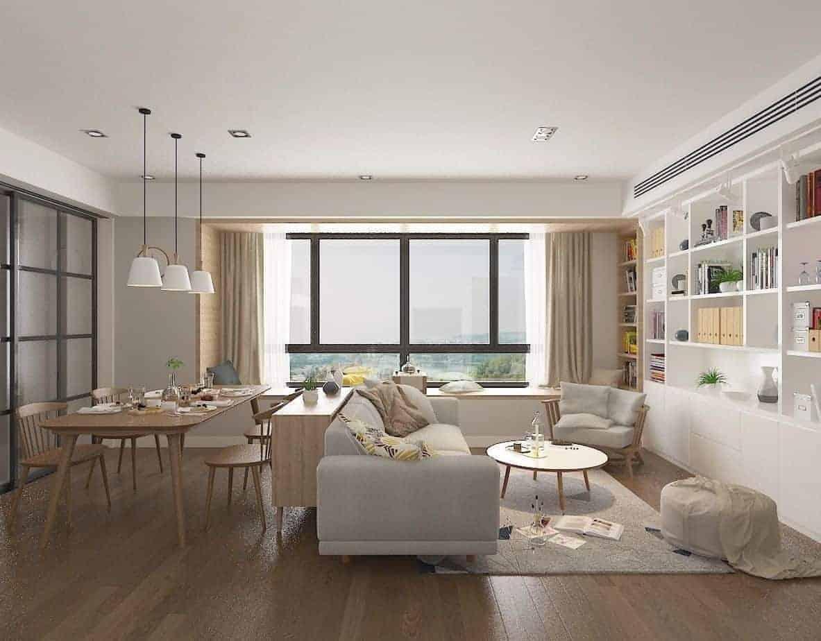 phòng khách đương đại